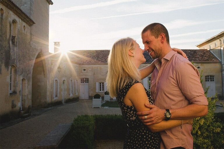 Château de Saint-Privat-des-Prés Engagement Shoot France Destination Wedding Photographer
