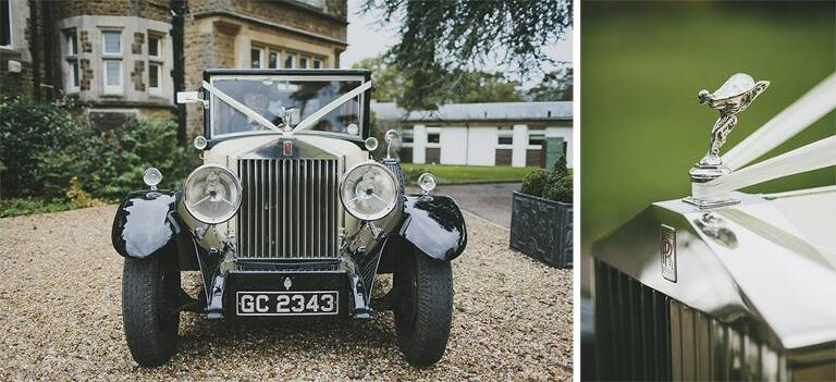 Hartsfield Manor Surrey Wedding Photographer Rolls Royce