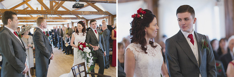 Coltsford Mill Wedding Photography in Surrey Barn Ceremony