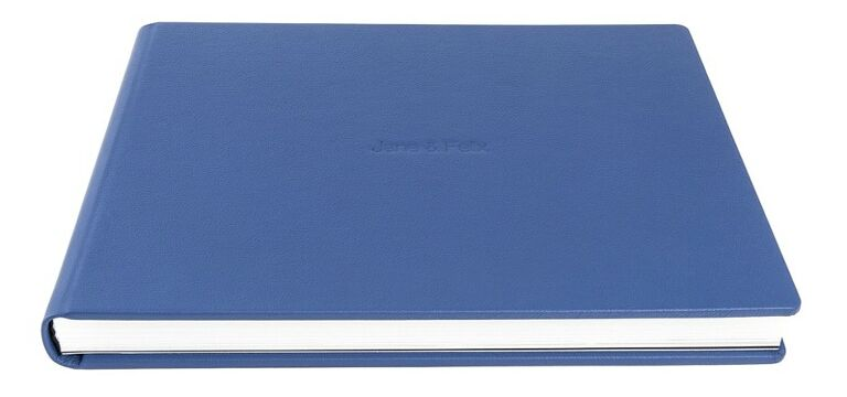 Graphistudio leather album in blue.