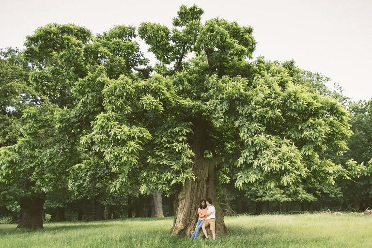 Engagement Shoot Richmond Park Couple Surrey