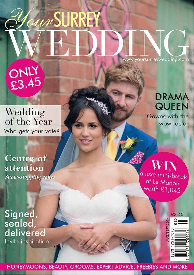 Fazeley Studios Your Surrey Wedding Magazine Front Cover Murray Clarke