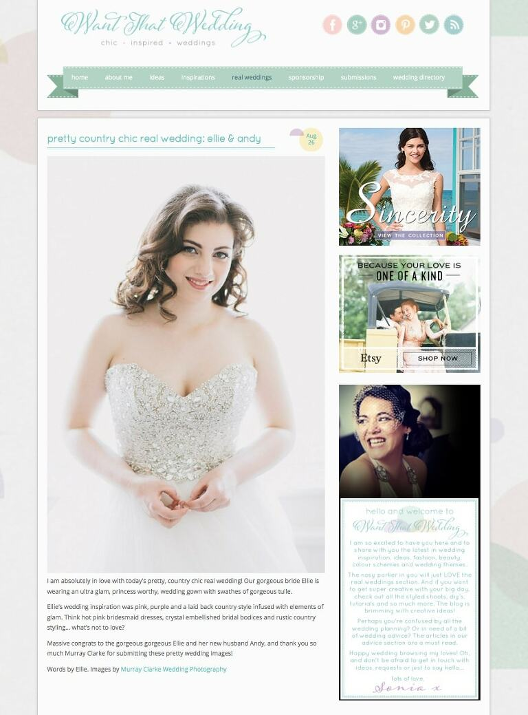 Featured on Want That Wedding Maidens Barn Essex Wedding Photographer