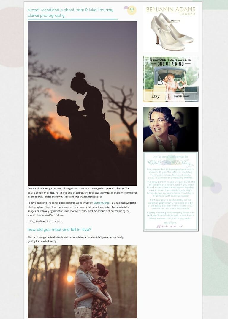 Murray Clarke Featured on Want That Wedding Blog