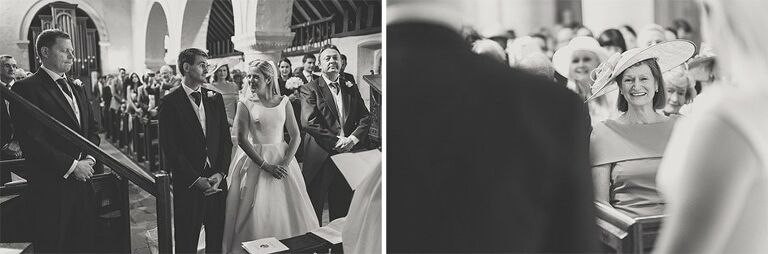 Bride and Groom exchanging their vows in a church.