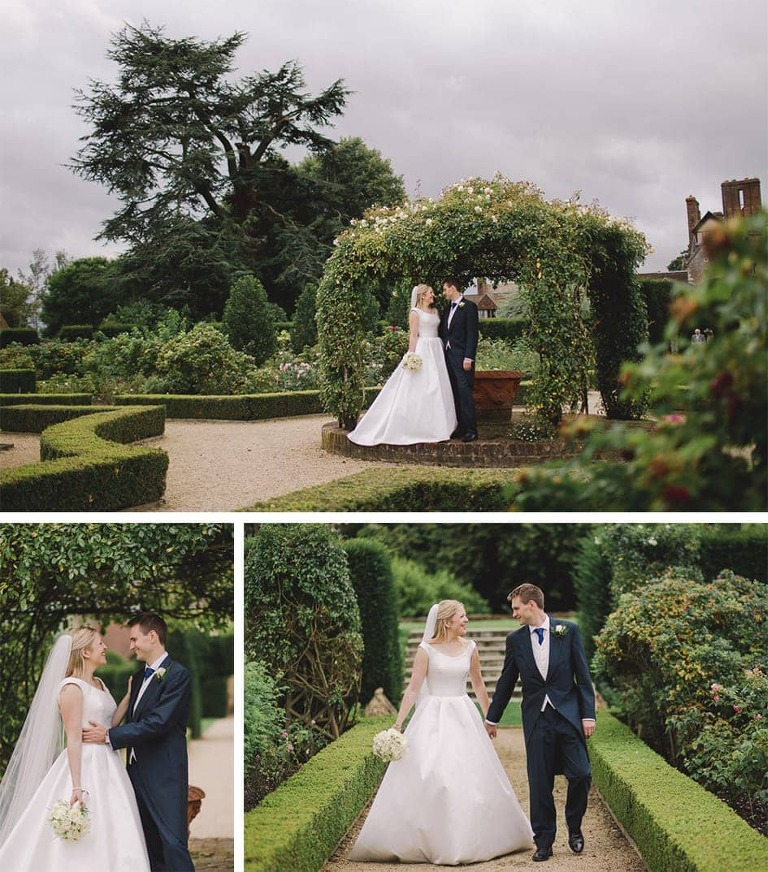 Loseley Park Wedding in the Summer with the bride and groom.