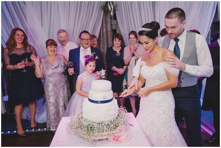 Alexander House Wedding Photography Sussex Cake Cutting