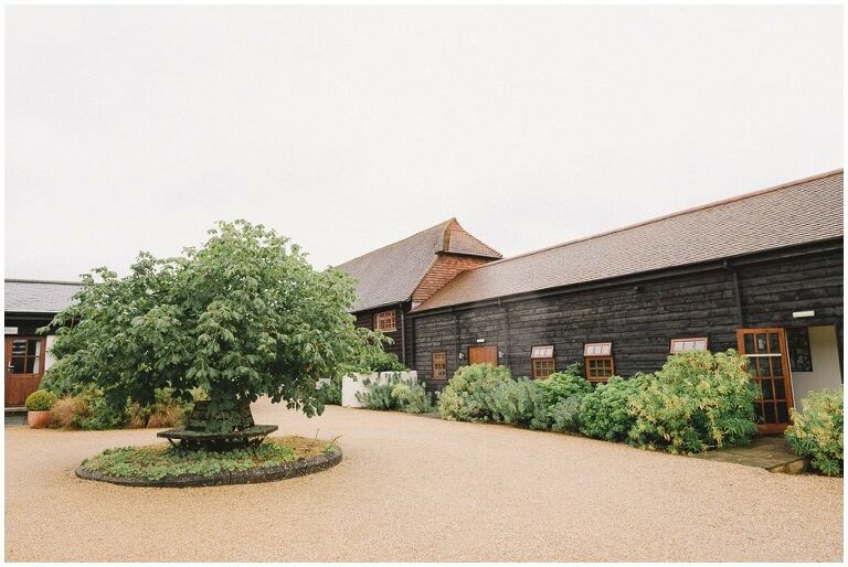Amenda and Tom's Rainy Wedding at Gate Street Barn in Surrey