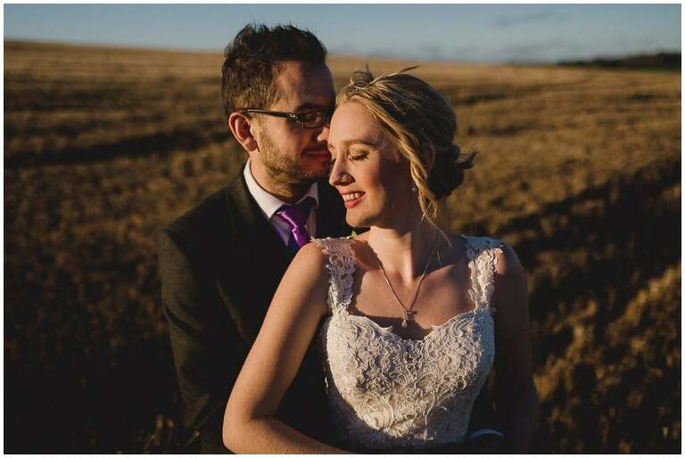 Notley Tythe Barn Wedding Photograph in the field
