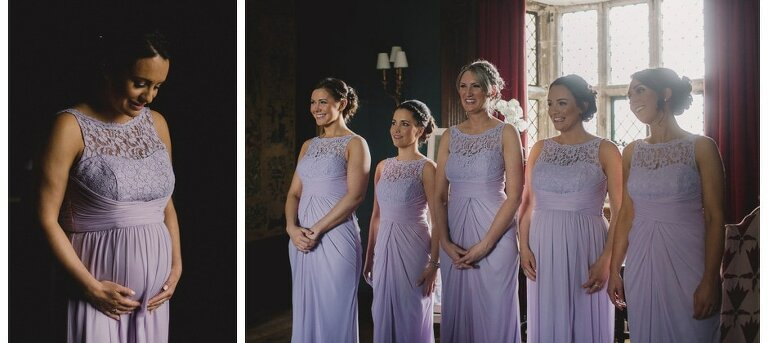 Bridesmaids at Great Fosters.