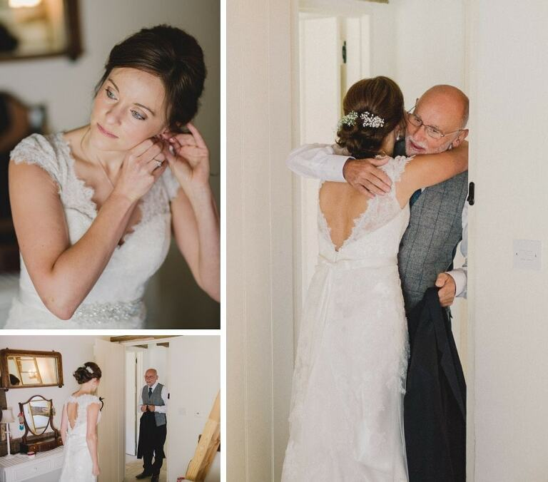 Kerry and Andy's Bartholemew Barn Wedding first look