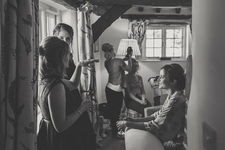 Kerry and Andy's Bartholemew Barn Wedding Preparations