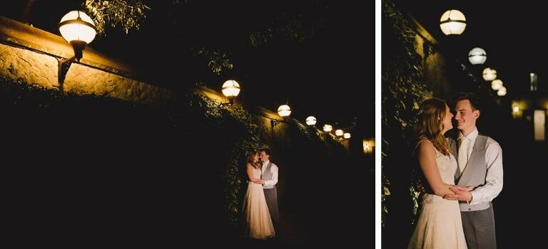 Off camera flash wedding portraits.