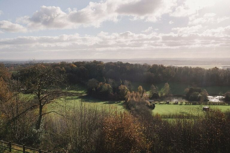 The amazing views from Nutfield Priory.