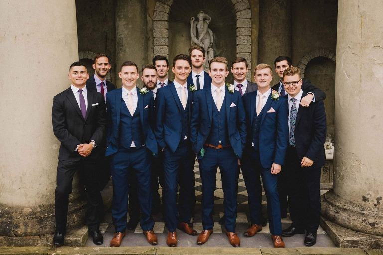 Groomsmen at a Wotton House wedding.