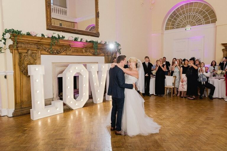 The first dance in the Great Hall at Farnham Castle.