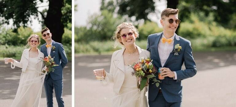 Clissold House wedding in the park