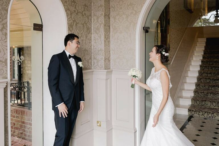 First look at a wedding in the Petersham Hotel in Richmond