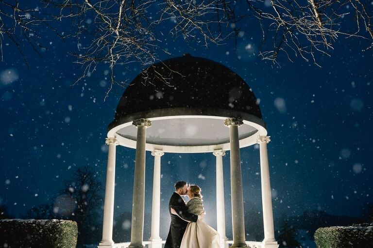 Claire and Andy's Snowy Wedding at Froyle Park in Hampshire