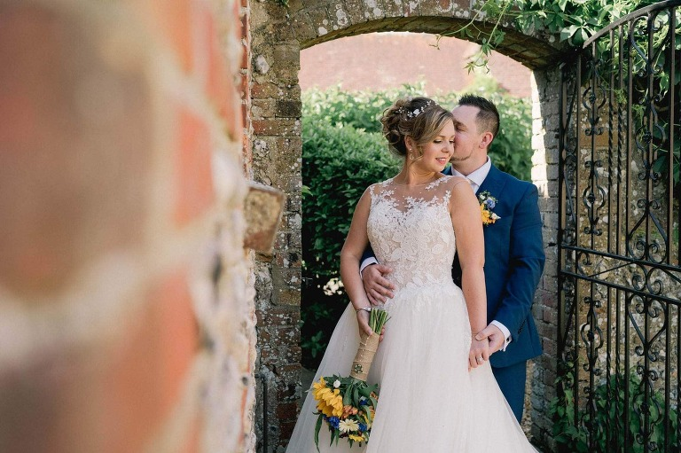 Bride and Groom at Selden Barns in Sussex