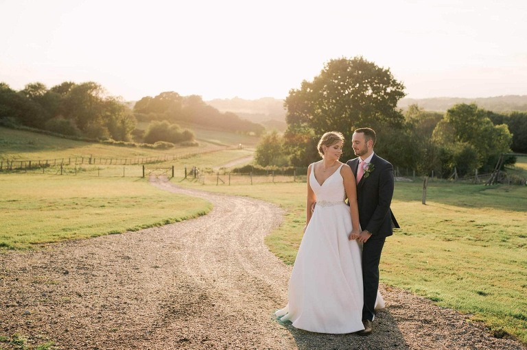 Blackstock Country Estate in Sussex Wedding Sunset Shoot
