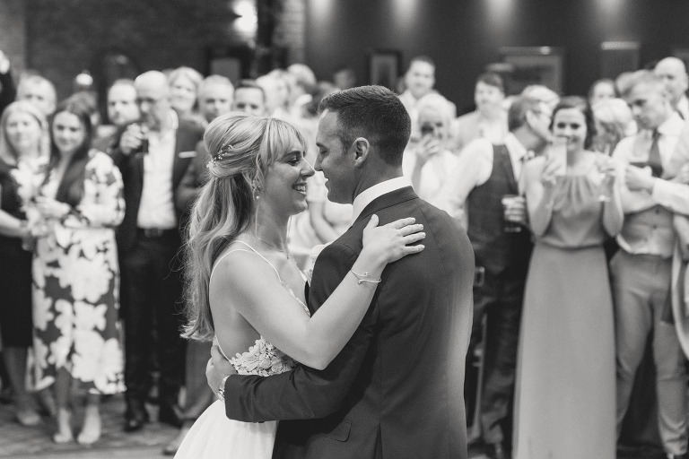 The first dance at a wedding in Lythe Hill.