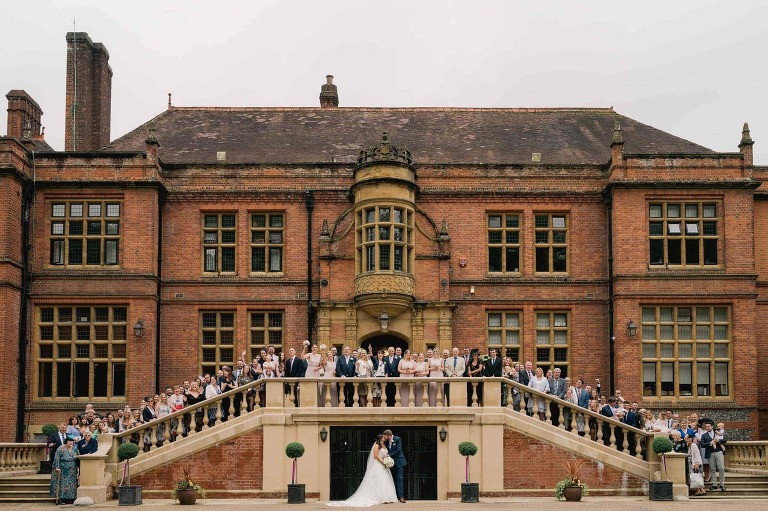 Woldingham school large group shot at a wedding