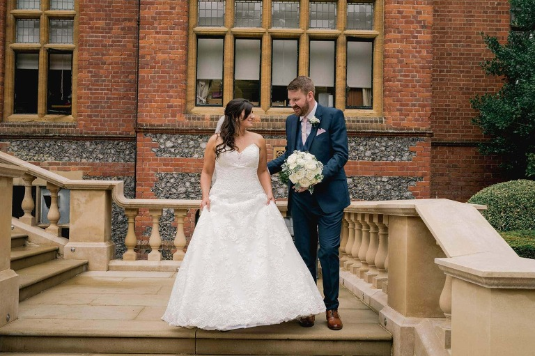 Wedding Photographer Marden Park with newly married couple.