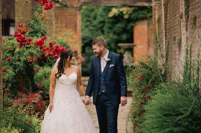 Bride and Groom at Woldingham School in Surrey