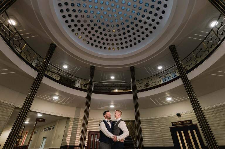 Wedding photographer Portsmouth at the Royal Maritime Museum.