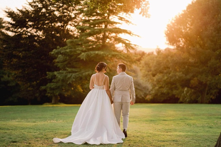 Hartsfield Manor micro wedding photos are sunset