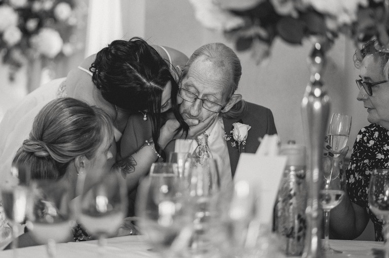 An intimate wedding moment