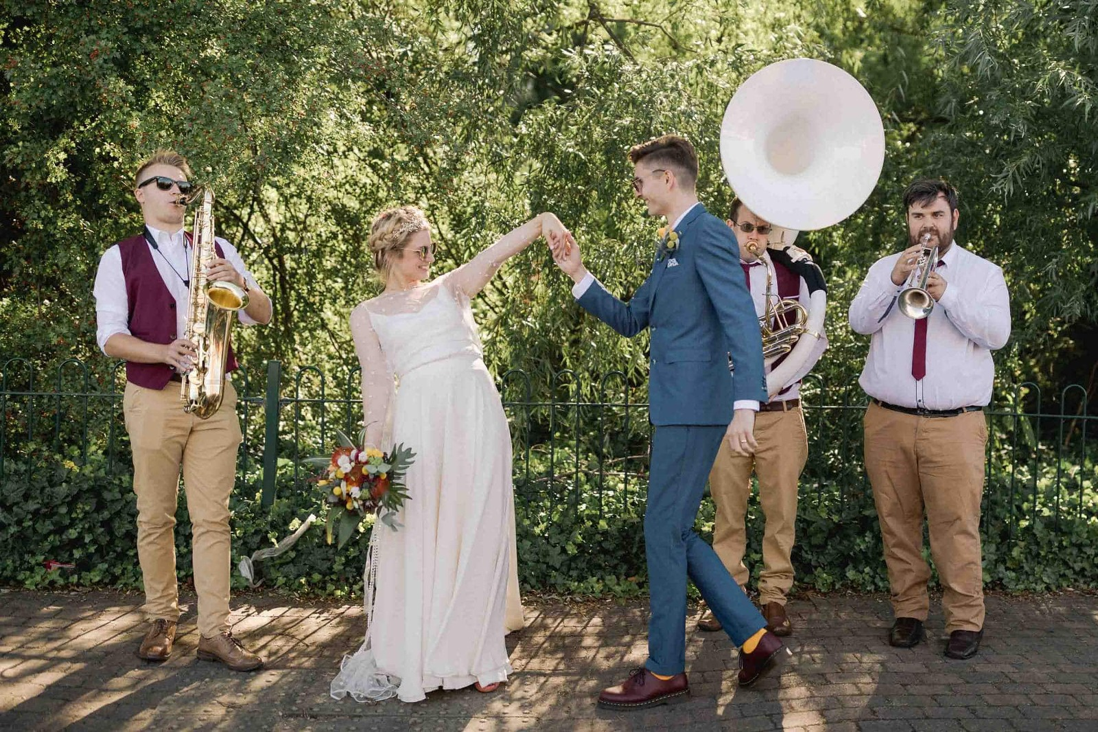 A couple dance at their Wedding in London