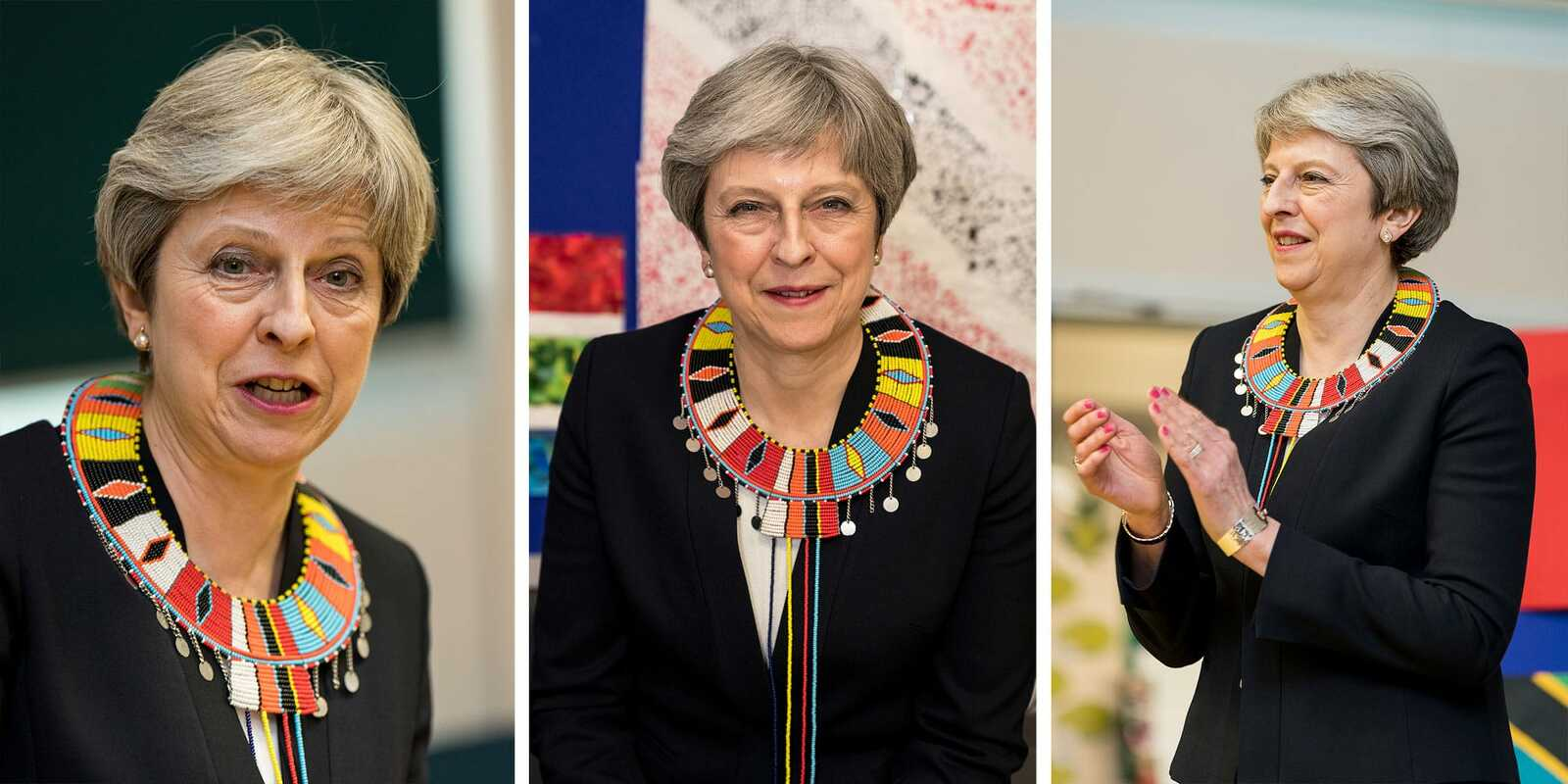 Corporate Shoot with Teresa May the Primeminister